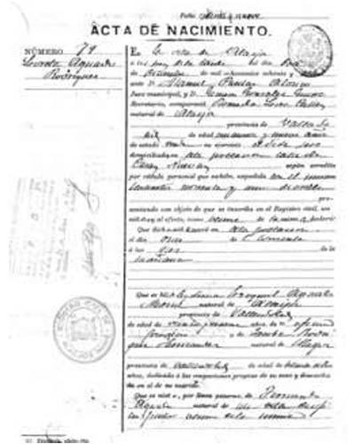 certificado de nacimiento santander